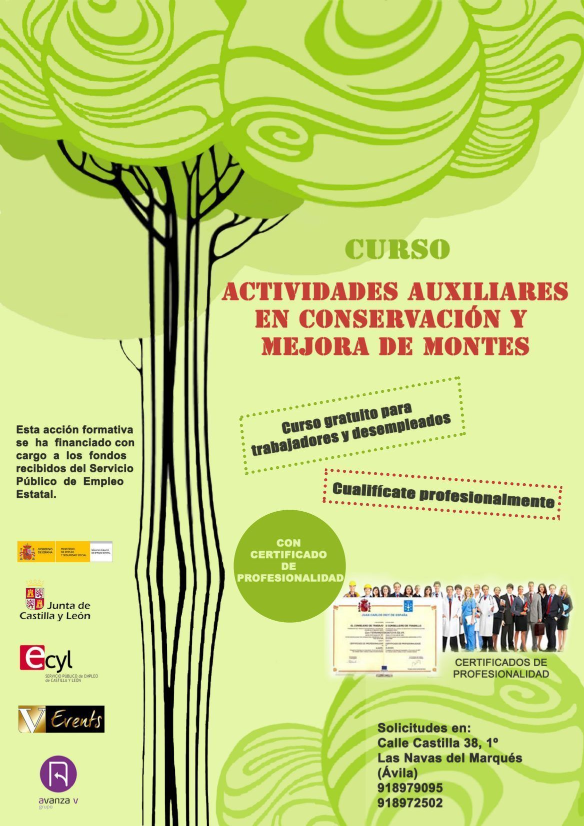 Curso de Actividades auxiliares en conservación y mejora de montes